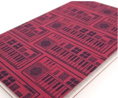 Retro Casio Keyboard pocket moleskine journal (lined) 80's electronic notebook music stocking stuffer. $10.00, via Etsy.