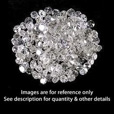 90 -110 Pieces 4.00Ct Real Natural Round Cut Loose Diamond lot I-3 / H Color #AffinityJewelry