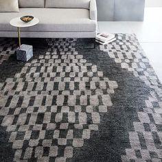 Trellis Shine Wool Rug - Slate #westelm