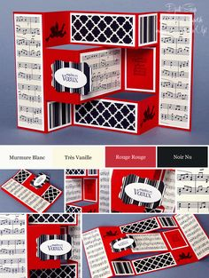 Stampin & # Up! – Wish card … - Magnet Mode City Tri Fold Cards, Fancy Fold Cards, Folded Cards, Pop Up Cards, Cool Cards, Ideas Scrap, Trifold Shutter Cards, Exploding Gift Box, Cascading Card