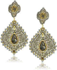 Amazon.com: Miguel Ases Labradorit Ohrringe Lotus: Jewelry Chandelier Earrings, Beaded Earrings, Clip On Earrings, Drop Earrings, Beaded Jewellery, Seed Bead Jewelry, Resin Jewelry, Handmade Jewelry, Lotus Jewelry