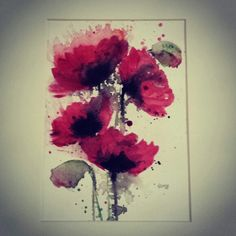Watercolour poppies by Sarah Hogg