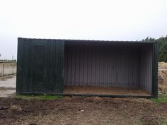 Shipping container run-in shed / field shelter for horses | Horse ...