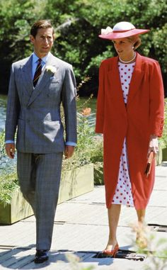1985-11-03 Diana and Charles visit the Royal Botanic Gardens in South Yarra, Victoria