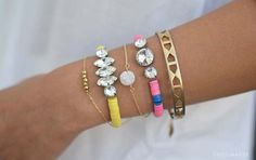 DIY Bracelets - Rhinestone Vinyl Bead Bracelet - Cool Jewelry Making Tutorials for Making Bracelets at Home - Handmade Bracelet Crafts and Easy DIY Gift for Teens, Girls and Women - With String, Wire, Leather, Beaded, Bangle, Braided, Boho, Modern and Friendship - Cheap and Quick Homemade Jewelry Ideas