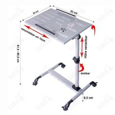 SoBuy Nursing Home Auto-Touch Overbed Table, Bed Table, Laptop Table, Sofa Side Table, FBT07N-Sil: Amazon.co.uk: Kitchen & Home