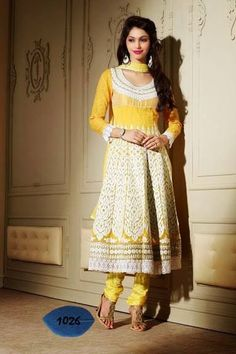 Designer anarkali georgette semi stitched suit by Lipsy Fashion-Clothing-Lipsy Fashion