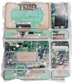 travel scrapbooking layout