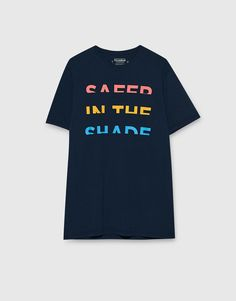 T-shirt with multicoloured slogan - T-shirts - Clothing - Man - PULL&BEAR Italy