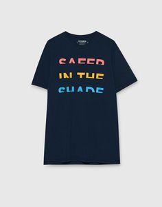 T-shirt with multicoloured slogan - T-shirts - Clothing - Man - PULL&BEAR Italy