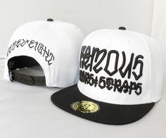 R8 LOGO Snapback Hats Caps White 1628