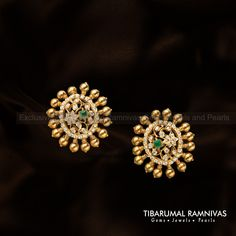 Creativity in handcrafted jewelry, having a blend of the old and new catering to both traditional and contemporary jewellery, with its core strength being design. Gold Jhumka Earrings, Indian Jewelry Earrings, Jewelry Design Earrings, Mom Jewelry, Gold Jewellery Design, Necklace Designs, Beaded Jewelry, Jewelery, Gold Necklace