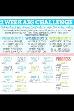 Two week ab challenge-