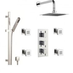 3-Way Concealed Triple Valve with Diverter, Overhead Shower Plus Two Other Outlets - Shower Systems - Shower and Spa