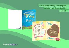 Free Bday Greeting Card psd Template! http://takeawaydesignz.com/free-birthday-greeting-card-a3114/