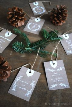 10 Free Holiday Printable Gift Tags - brepurposed