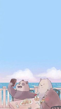 24 Ideas For Wall Paper Whatsapp Beautiful Iphone Bear Wallpaper, Kawaii Wallpaper, Disney Wallpaper, Wallpaper Backgrounds, Ice Bear We Bare Bears, We Bear, Cute Cartoon Wallpapers, Pretty Wallpapers, Foto Cartoon