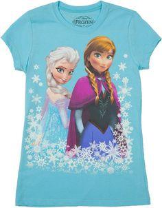Girls Anna and Elsa Frozen Shirt