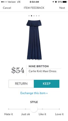 Nine Britton Carlie Knit Maxi Dress received in my April Fix. It was huge on me, but looked gorgeous. Maybe size down? #stitchfix #maxidress