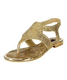 Look what I found on #zulily! Gold Greece Sandal #zulilyfinds