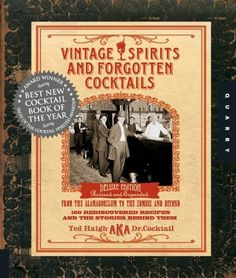 Vintage Spirits and Forgotten Cocktails: From the Alamagoozlum to the Zombie 100 Rediscovered Recipes and the Stories Behind Them by Ted Haigh. $11.17. 352 pages. Publisher: Quarry Books; Spi Dlx Re edition (October 1, 2009). Author: Ted Haigh