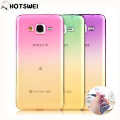 For Samsung Galaxy J3 J5 J7 (6) SAMSUNG A3 A5 A7 2016 Case A3 A5 A7 J5 J7 2015 NEW Gradient Color Clear Soft TPU Gel Cover Cases