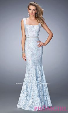 Long Lace Formal Gown by La Femme Style: LF-22708
