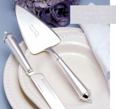 Silver Plated Cake Server Set