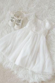 Ana Rosa~ My Favorites✨ Girl Christening, Baptism Dress, Christening Dresses, Baby Blessing Dress, White Baby Dress, Pillow Thoughts, Girls Dresses, Flower Girl Dresses, Shades Of White