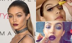 Gigi Hadid, 21, stunned with vampy lips and glowing skin at a Maybelline party in L.A. on Friday night. As her make-up artist got her ready, the brand spokesmodel documented the process on Snapchat,