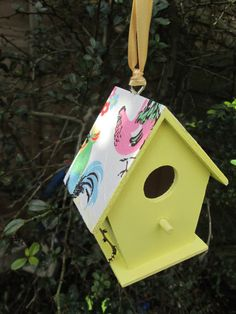 Decoupage Easter Cath Kidston bird house/ bird
