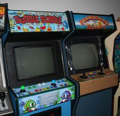 Bubble Bobble and Rainbow Islands arcade Cabinets