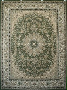 Amazon.com - Sage Green Traditional Isfahan Wool Persian Area Rugs 7'10 x 10'5 - Machine Made Rugs