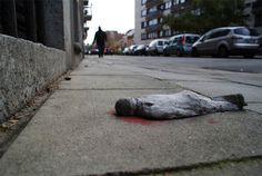 Miniature Cement Sculptures Street Art by Isaac Cordal [25 pics] click for more