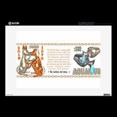 "Valxart's 1970 2030 MetalDog zodiac born Aquarius 15"" Laptop Decals by ValxArt.com"
