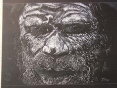 9. Pastel sobre cartulina negra. Obra de Pablo López Muñoz