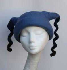 Light Blue Felted Wool Hat Millnery Women