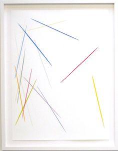 Drawn 1, 2011   Gouache on Paper  Michael Batty