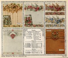 Approximately 100 wallpapers from 1916.