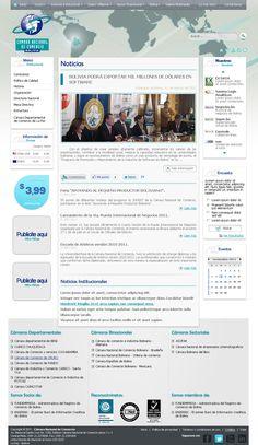 Sitio Web desarrollado para la Cámara Nacional de Comercio. La Cámara Nacional de Comercio de Bolivia es una centenaria y prestigiosa institución, inspirada en principios éticos y de compromiso con el empresariado. Apolítica que busca la excelencia, el progreso así como el desarrollo económico y social del país.