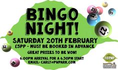 Eyes Down, Look In! Our annual Bingo Night returns on Saturday 20th February here at Paradise. The evening will commence at 6pm in the Discovery Centre. Come along for just £5 per person which includes all games with some great prizes to be won! You are welcome to bring your own food and drink.   All proceeds raised on the evening will be donated to Friends of Paradise Wildlife Park.   To book tickets, please contact Carly on 01992 470 490 ext. 236 / carly@pwpark.com