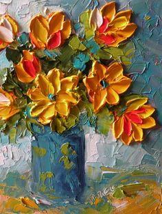 Oringinal Impasto Oil 8x10 Floral by IronsideImpastos on Etsy
