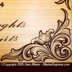 【 Sam Alfano 】 - @master_engraver Instagram profile | Iconosquare Engraving Illustration, Metal Engraving, Filigree Tattoo, Ornament Drawing, Wood Carving Designs, Flash Art, Scroll Design, Leather Pattern, Gravure
