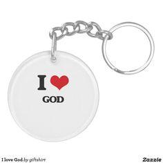 I love God Double-Sided Round Acrylic Keychain