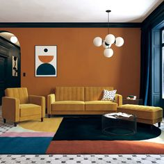 Home Decoration Accessories Ltd Referral: 3110825632 Bauhaus Colors, Design Bauhaus, Bauhaus Style, Light Grey Walls, Teal Walls, Bold Living Room, Living Spaces, Living Rooms, Interior Design Minimalist