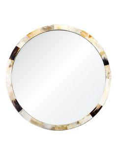 Horn Round Mirror