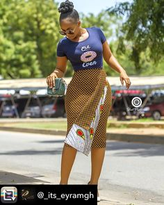 babe killed it with this killer Ankara skirt# Ankara styles print African Inspired Fashion, Latest African Fashion Dresses, African Print Fashion, Africa Fashion, Ankara Fashion, African Print Skirt, African Print Dresses, African Dress, African Prints