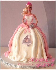 barbie cake with clutch handbag