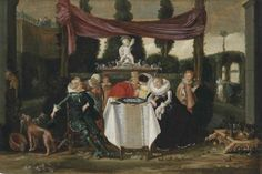 Dirck Hals (Haarlem 1591-1656)  A merry company on a terrace
