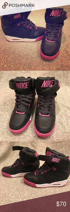 NIKE Ski-Hi women's sneakers Nike Ski-Hi wedge sneakers. Worn once in perfect condition! Women's SIZE 7 Nike Shoes Sneakers